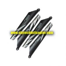 T-12-01-GREY Main Blades 2A+2B Parts for Tier-One T-12 Helicopter